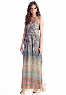Jessica Simpson Strapless Printed Maxi Dress