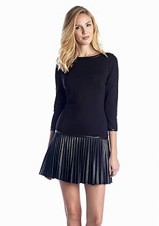 Jessica Simpson Drop-Waist Pleated Dress