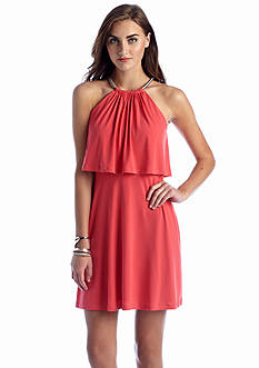 Jessica Simpson Halter Aline Popover Dress
