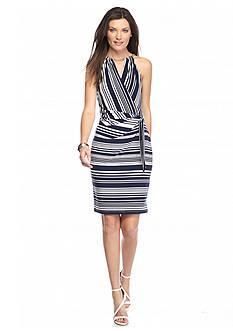 Jessica Simpson Stripe Halter Dress