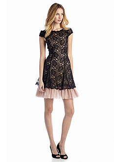 Jessica Simpson All-over Lace Fit-and-Flare Dress