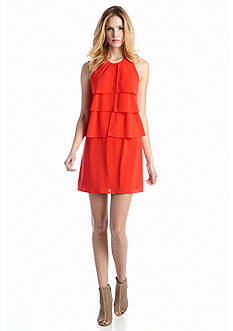 Jessica Simpson Sleeveless Tiered Shift Dress