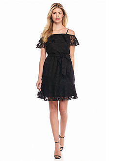Jessica Simpson Off the Shoulder Lace Dress