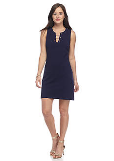 Jessica Simpson Chain Neckline Sheath Dress