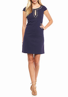 Jessica Simpson Embellished Keyhole Neckline Dress