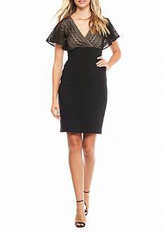 Jessica Simpson Flutter-Sleeve Empire-waist Dress