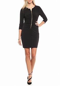Jessica Simpson Zip Front Sheath Dress