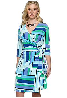 Kim Rogers® Plus Size Matte Jersey Wrap Dress