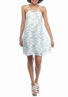 BeBop High Neck Crochet Dress
