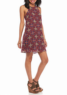 BeBop Medallion Printed Shift Dress