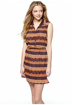 BeBop Sleeveless Shirt Dress with Belt