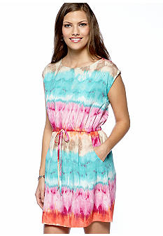 BeBop Tie Dye Printed Dress
