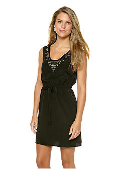BeBop Stud Embellished Crepe Dress