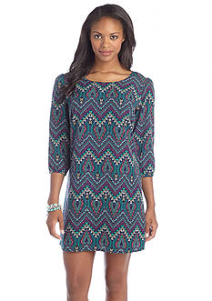 BeBop Tribal Chevron Print Shift Dress