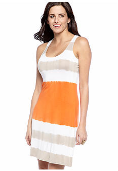 New Directions Sleeveless Tie Dye Tank Dress