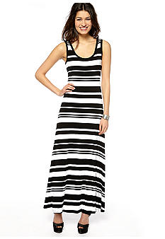 New Directions Striped Knit Maxi Dress