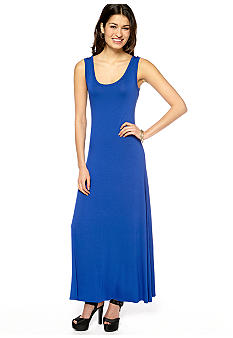 New Directions Solid Knit Maxi Dress