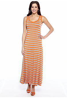 New Directions Sleeveless Stripe Maxi Dress