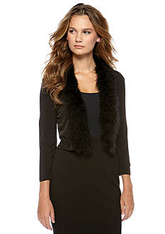 New Directions Long Sleeve Topper with Faux Fur