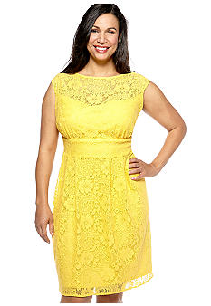 New Directions Plus Size Lace Dress