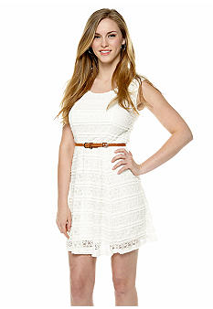 Trixxi Lace Skater Dress