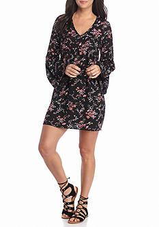 Trixxi Floral Print Baby Doll Dress