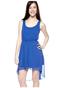 Trixxi High Low Dress with Back Elastic Trim