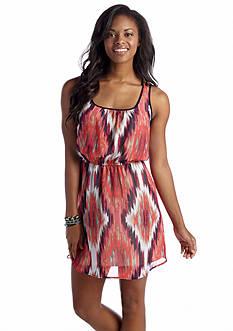 Trixxi Blurred Print Dress