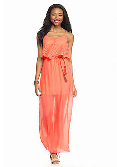 Trixxi Crochet Popover Maxi Dress