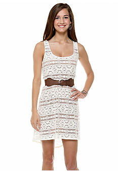 Trixxi High Low Crochet Dress