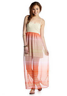 Trixxi Knot Back Printed Maxi Dress