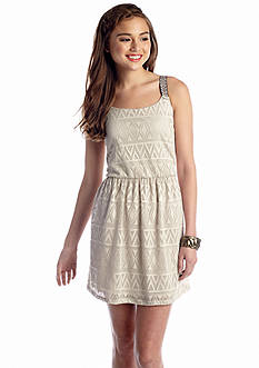 Trixxi Geo Lace Tank Dress