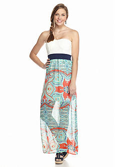 Trixxi Floral Printed Maxi Dress