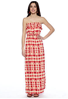 Trixxi Printed Challis Maxi Dress