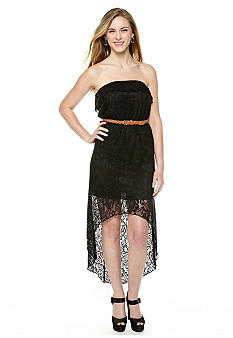 Trixxi Crochet Hi Lo Dress with Belt