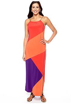New Directions Colorblock Maxi Dress