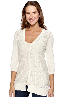 New Directions Lace Cardigan