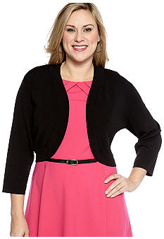 New Directions Plus Size Shrug