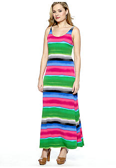 New Directions Sleeveless Stripe Maxi