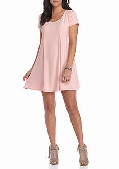 Pink Rose Solid Tee Dress