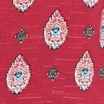 Juniors: Pink Rose Dresses: Magenta Bandana Pink Rose Sleeveless Border Printed Dress