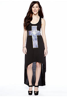 Living Doll Cross Screen Extreme High Low Dress