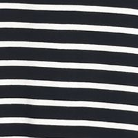 Living Doll: Black/Ivory Living Doll Striped Swing Dress