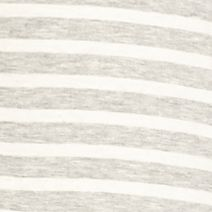 Junior Plus Size Dresses: Heather Grey/Ivory Living Doll V Neck Striped Knit Dress