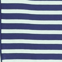 Living Doll: Navy/Mint Living Doll V Neck Striped Knit Dress