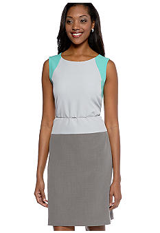Sharagano Colorblock Sheath Dress