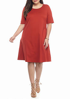 Sharagano Plus Size Ponte Shift Dress