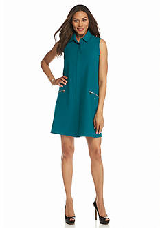Sharagano Button Front Shirt Dress