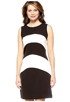 Sharagano Sleeveless Colorblock Dress