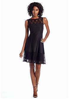 Julia Jordan® Fit and Flare Dress with Lace